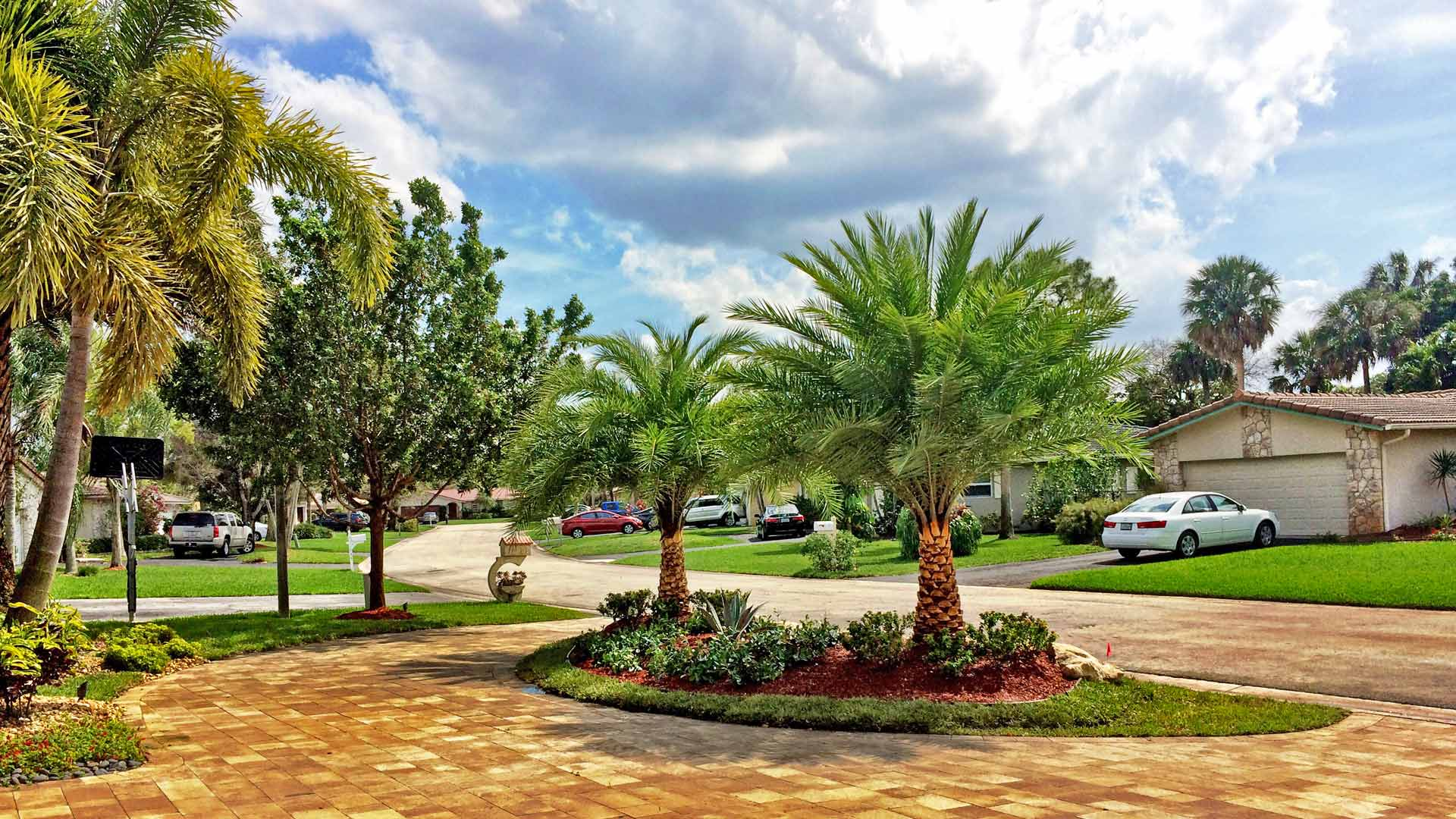 Beautiful estate landscape design and installation in Parkland, FL.