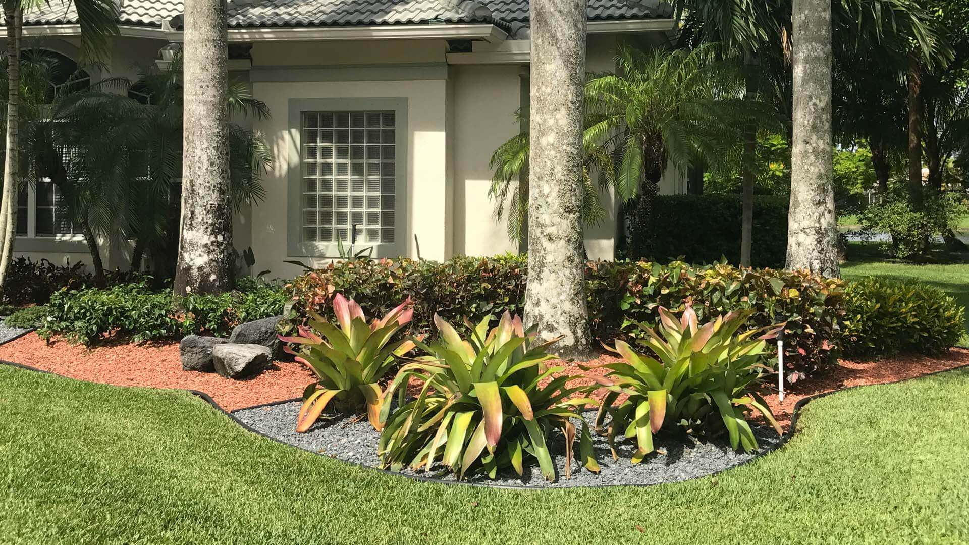 Close up of custom landscaping by Go2Scape.Inc